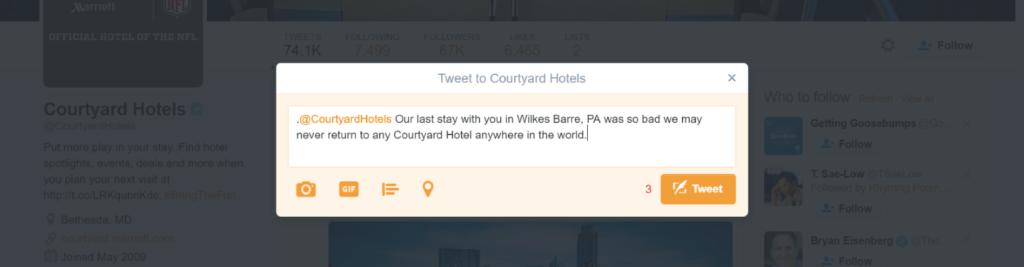 courtyard tweet